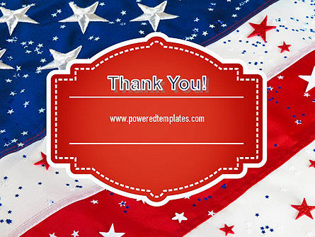 Festive American Flag PowerPoint Template Slide 20