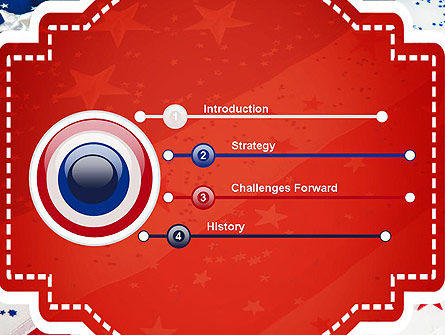 Festive American Flag PowerPoint Template Slide 3