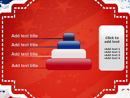 Festive American Flag PowerPoint Template Slide 8