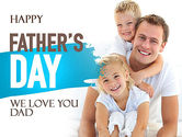 Father's Tenderness PowerPoint Template#1