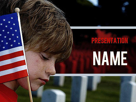 Veterans Day PowerPoint Template, 11326, America — PoweredTemplate.com
