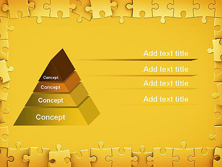 Puzzle Frame PowerPoint Template Slide 12