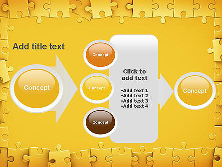 Puzzle Frame PowerPoint Template Slide 17