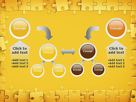 Puzzle Frame PowerPoint Template Slide 19