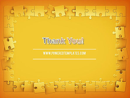 Puzzle Frame PowerPoint Template Slide 20