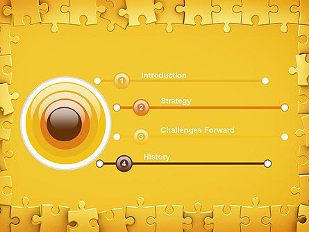 Puzzle Frame PowerPoint Template, Slide 3, 11329, Abstract/Textures — PoweredTemplate.com