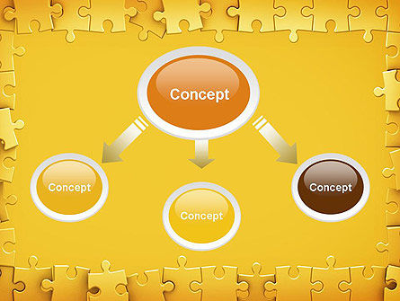 Puzzle Frame PowerPoint Template Slide 4