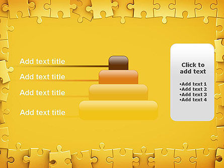 Puzzle Frame PowerPoint Template Slide 8