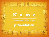 Abstract/Textures: Puzzle Frame PowerPoint Template #11329