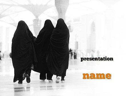 Makkah Kaaba Hajj Muslims PowerPoint Template