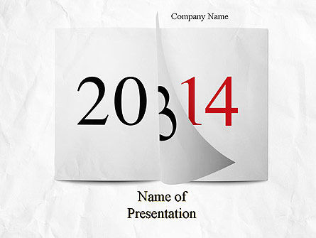 Tear-off Year Change Calendar PowerPoint Template