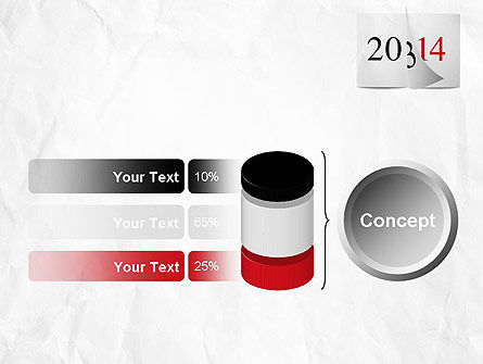Tear-off Year Change Calendar PowerPoint Template Slide 11