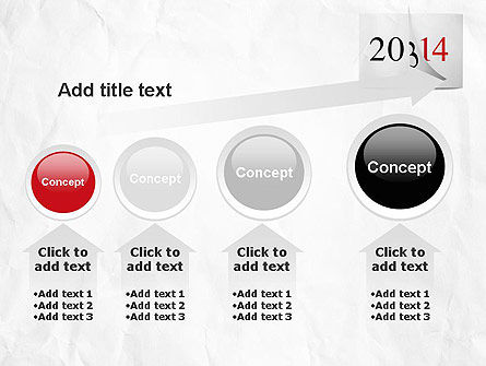 Tear-off Year Change Calendar PowerPoint Template Slide 13