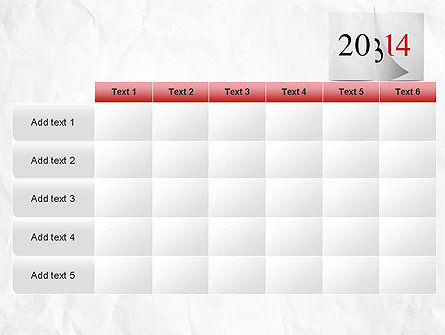 Tear-off Year Change Calendar PowerPoint Template Slide 15