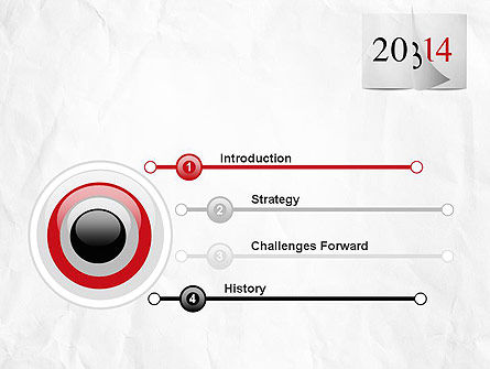 Tear-off Year Change Calendar PowerPoint Template Slide 3
