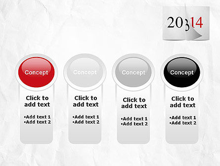 Tear-off Year Change Calendar PowerPoint Template Slide 5