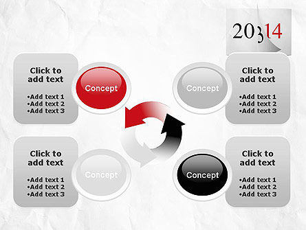 Tear-off Year Change Calendar PowerPoint Template Slide 9