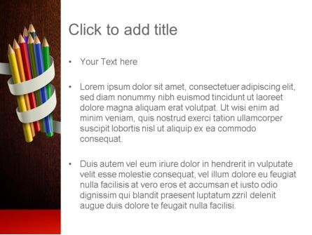 Bunch of Colored Pencils PowerPoint Template, Slide 3, 11332, Education & Training — PoweredTemplate.com