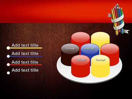 Bunch of Colored Pencils PowerPoint Template Slide 12