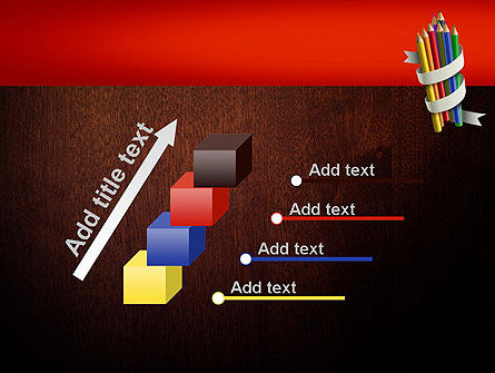 Bunch of Colored Pencils PowerPoint Template Slide 14
