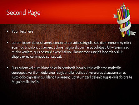 Bunch of Colored Pencils PowerPoint Template Slide 2
