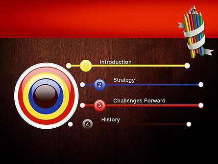Bunch of Colored Pencils PowerPoint Template Slide 3