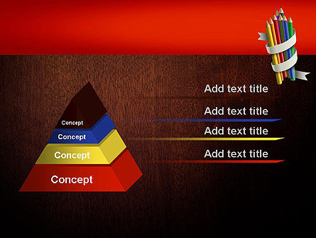 Bunch of Colored Pencils PowerPoint Template Slide 4