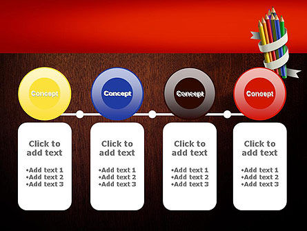 Bunch of Colored Pencils PowerPoint Template Slide 5