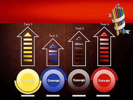 Bunch of Colored Pencils PowerPoint Template Slide 7
