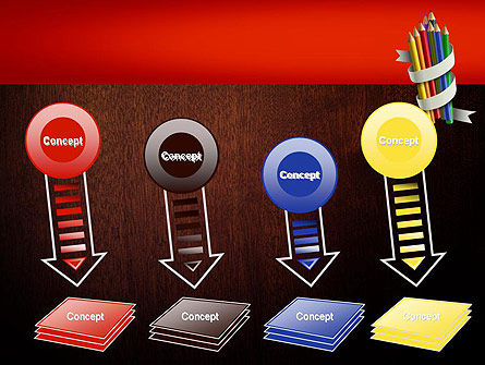 Bunch of Colored Pencils PowerPoint Template Slide 8