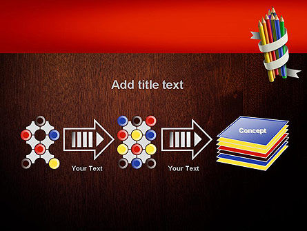 Bunch of Colored Pencils PowerPoint Template Slide 9