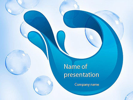 Aqua Themed PowerPoint Template, 11333, Abstract/Textures — PoweredTemplate.com