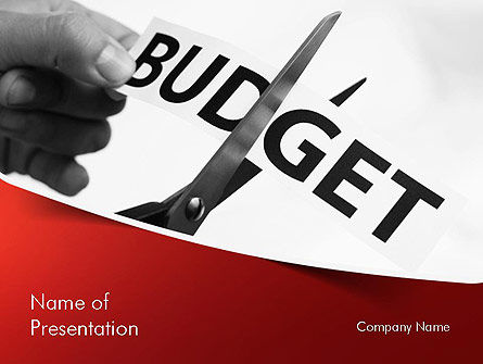 budget cuts powerpoint template backgrounds 11334