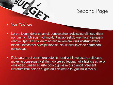 Budget Cuts PowerPoint Template, Slide 2, 11334, Financial/Accounting — PoweredTemplate.com