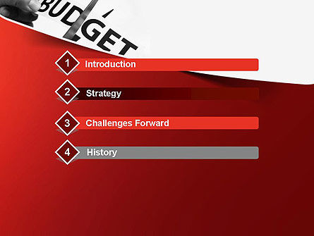 Budget Cuts PowerPoint Template, Slide 3, 11334, Financial/Accounting — PoweredTemplate.com