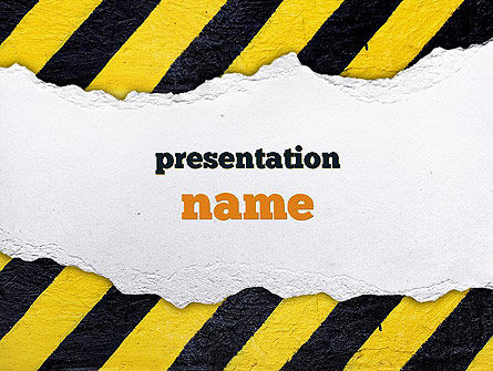 Under Construction Themed PowerPoint Template, 11336, Construction — PoweredTemplate.com