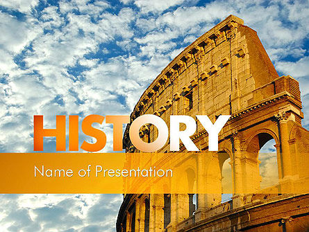 Education & Training: The Colosseum PowerPoint Template #11338