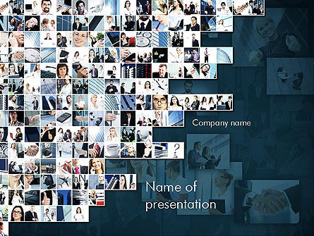 Business in Action Collage PowerPoint Template