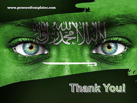 Saudi Arabia Flag PowerPoint Template Slide 20