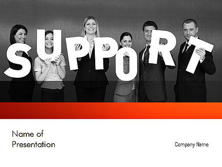 Support Groups PowerPoint Template, 11345, Careers/Industry — PoweredTemplate.com