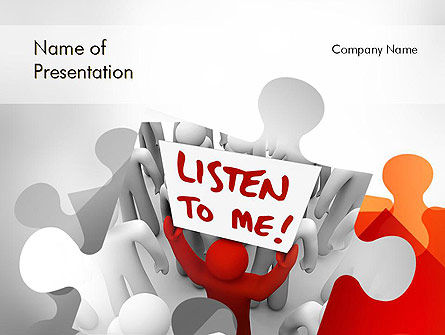 Social Leadership PowerPoint Template