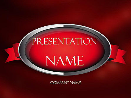 Abstract/Textures: Chrome Frame with Ribbon PowerPoint Template #11347