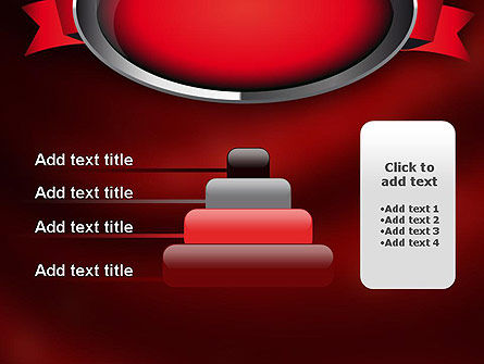 Chrome Frame with Ribbon PowerPoint Template Slide 8