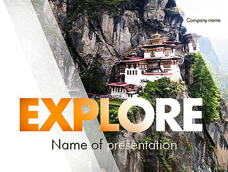 The Tiger's Nest PowerPoint Template, 11349, Flags/International — PoweredTemplate.com