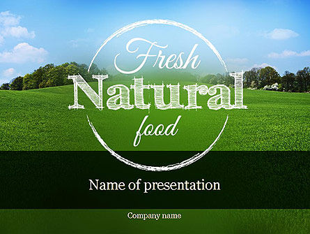 Organic Products Company PowerPoint Template, 11351, Agriculture — PoweredTemplate.com