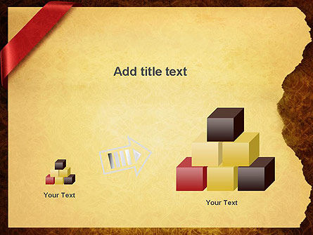 Paper with Red Ribbon PowerPoint Template Slide 13
