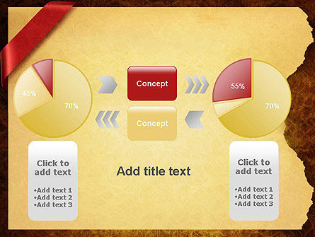 Paper with Red Ribbon PowerPoint Template Slide 16
