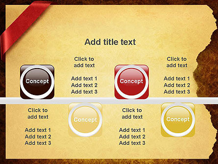 Paper with Red Ribbon PowerPoint Template Slide 18
