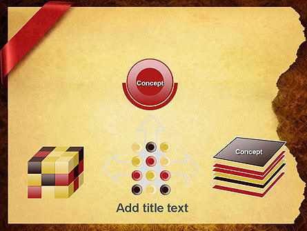 Paper with Red Ribbon PowerPoint Template Slide 19