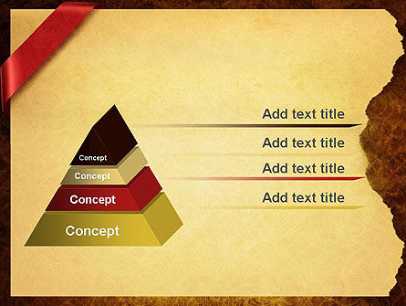 Paper with Red Ribbon PowerPoint Template Slide 4